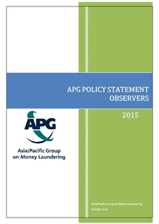 APG Co-Chairs Issue APG Policy Statement - Observers 2015